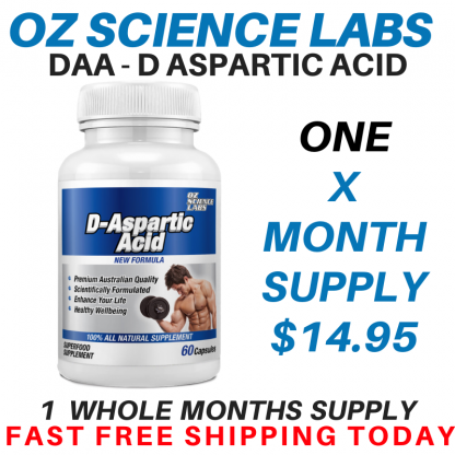 D - Aspartic Acid 1 Bottle Buy !