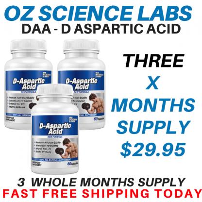 D - Aspartic Acid 3 Bottle Buy !